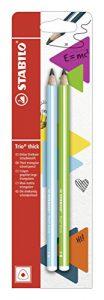 Bleistift – STABILO Trio dick in blau + grün – 2er Pack – Härtegrad 2B