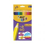 BIC Buntstift Supersoft 12-farbig sort, inkl. Anspitzer Kartonetui à 12St