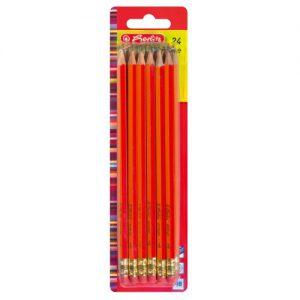 Herlitz 8850604 Bleistifte Scolair HB mit Tip 24 Stück FSC Holz, lackiert