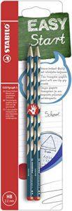Schmaler Dreikant-Bleistift für Rechtshänder – STABILO EASYgraph S in petrol – 2er Pack – Härtegrad HB