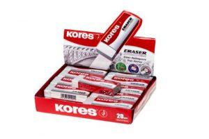 Kores Radierer KE-20 mit Papierschlaufe, 60 x 21 x 10 mm, weiß