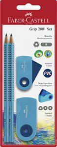 Faber-Castell 217005 Bleistiftset Grip 2001 Sleeve blau