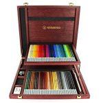 Pastellkreidestift – STABILO CarbOthello – 60er Holzkoffer – mit 60 verschiedenen Farben