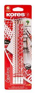 Kores BB92851 Grafitos, 4-er Set, rot/weiß