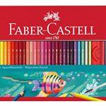 Faber-Castell 115964 – Aquarellbuntstifte, 60er, Metalletui