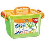 BIC Kids 9484261 Malkiste Set (mit 120 Stiften, 60 Buntstifte, 60 Filzstifte)