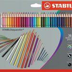 Aquarell-Buntstift – STABILO aquacolor – 36er Pack – mit 36 verschiedenen Farben