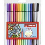 Premium-Filzstift – STABILO Pen 68-15er Pack – mit 15 verschiedenen Farben