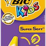 BIC Kids Jumbo Dreikant Buntstifte Set für Kinder ab 3 Jahren – malen wie Wachsmalstifte – Buntstifte 8er Set – 8 bruchsichere Stifte + Jumbo Anspitzer
