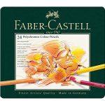 Faber-Castell 110024 – Künstlerfarbstift, 24 Polychromos Metalletui