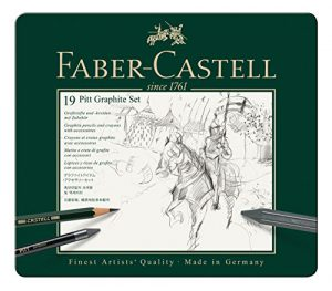 Faber-Castell 112973 – Pitt Graphite Set im Metalletui, medium, 19-teilig