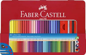 Faber-Castell 112448 Buntstift Colour Grip 48er Stück Metalletui