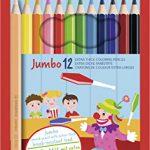 Dicker Buntstift – STABILO Jumbo – 12er Pack – 12 Farben – mit Spitzer