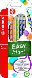 Ergonomischer Buntstift für Rechtshänder – STABILO EASYcolors – 6er Pack – mit 6 verschiedenen Farben