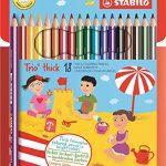 Dreikant-Buntstift – STABILO Trio dick – 18er Pack – mit 18 verschiedenen Farben