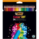 BIC Dreikant-Buntstift Color Up!, 24-farbig sortiert, Kartonetui à 24 Stück