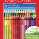 Faber-Castell 112442 – Buntstift Colour Grip, 36er Kartonetui