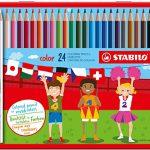 Buntstift – STABILO color – 24er Metalletui – mit 24 verschiedenen Farben