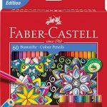 Faber-Castell 111260 – Buntstift Castle, 60er Kartonetui