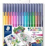 Staedtler 323 TB15JB Filzstifte Triplus Color Set mit 15 sortierten Farben Exklusive Johanna Basford Edition, Ergonomische Dreikantform, Schreiben, Malen und Zeichnen