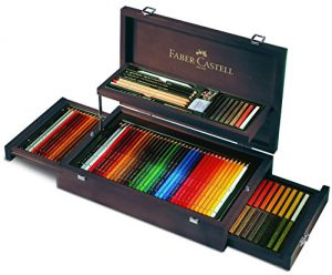 Faber-Castell 110086 – Art & Graphic Collection Holzkoffer