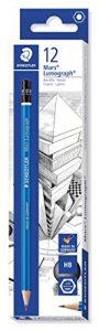 Staedtler 100-HB Mars Lumograph Bleistift, 100 Härtegrad, HB, 12 Stück im Kartonetui