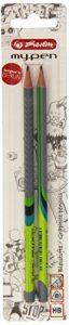 Herlitz 10786952 Bleistift my.pen HB, 2 Stück, sortiert