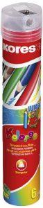 Kores Buntstift Kolores Jumbo, ergonomisch, 3-kant mit Spitzer, 6 farben