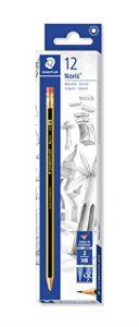 Staedtler 122-HB Noris Bleistift mit Radiertip Härtegrad HB im Kartonetui, 12 Stück