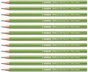 Umweltfreundlicher Bleistift – STABILO GREENgraph – Härtegrad HB – 12er Pack