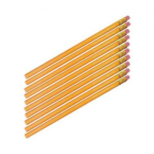 Herlitz 8670606 Bleistifte Härte HB mit Radierer, 10 Stück, gelb
