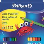 Pelikan 700160 Jumbo-Buntstifte, dreikant, 12 Stück inklusive Anspitzer, FSC