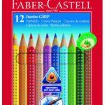 Faber-Castell 110912 – Farbstift Jumbo Grip Kartonetui 12er