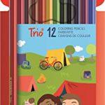 Dreikant-Buntstift – STABILO Trio – 12er Pack – mit 12 verschiedenen Farben