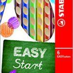 Ergonomischer Buntstift für Linkshänder – STABILO EASYcolors – 6er Pack – mit 6 verschiedenen Farben