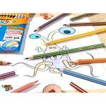 BIC Kids Tropicolors 2 Kinder Stifte – Buntstifte Set ab 5 Jahre mit bruchsicherer Mine & ohne Holz – Öko-Test sehr gut – 12 Stifte im Kartonetui