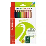 Umweltfreundlicher Dreikant-Buntstift – STABILO GREENtrio – 12er Pack – mit 12 verschiedenen Farben