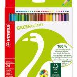 STABILO GREENcolors Umweltfreundlicher Buntstift – 24er Pack – mit 24 verschiedenen Farben