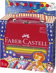 Faber-Castell A.W. 201352 – Malset Jumbo Grip Zirkus im Metall-Koffer